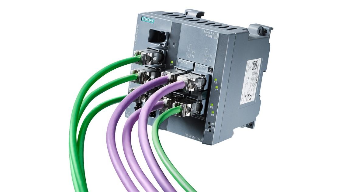 SCALANCE X-300 надає широкий функціонал IT комутатора для промислових мереж