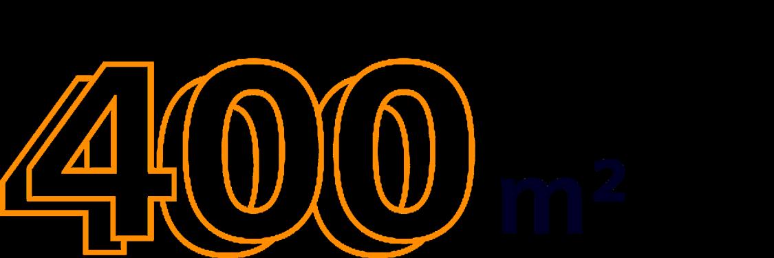 400 m²