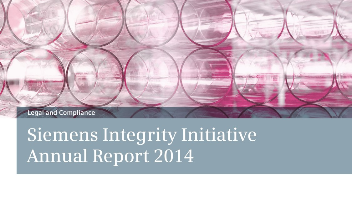 Siemens Integrity Initiative Annual Report 2014