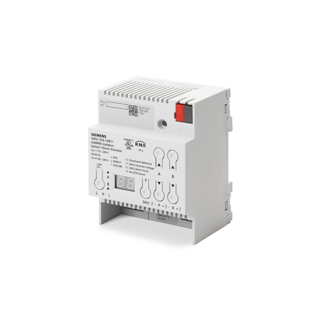 New Siemens KNX actuator enhances cost and energy efficiency for DALI lighting control