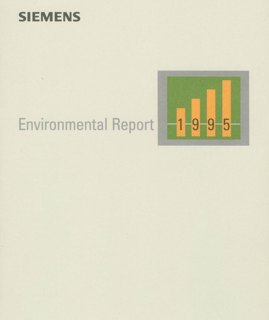 Siemens-Umweltbericht 1995