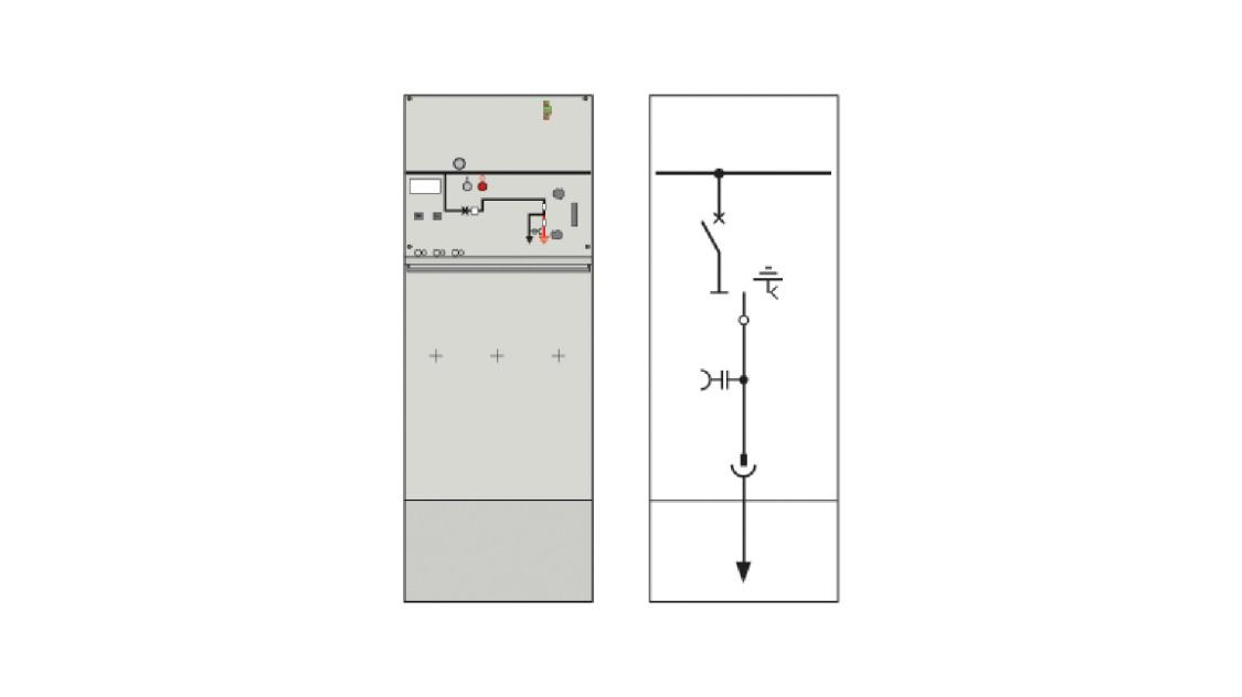 8DJH 36 medium-voltage switchgear vacuum circuit breaker section L