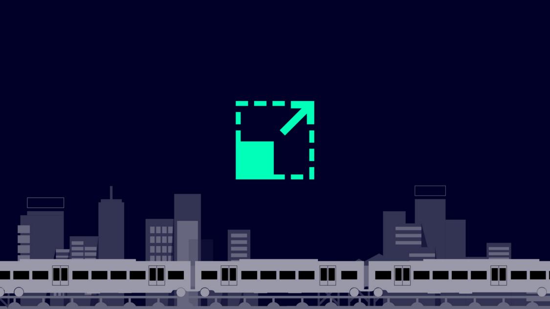 Icon für maximale Kapazität durch höhere Sitzplatzanzahl bei gleicher Zuglänge