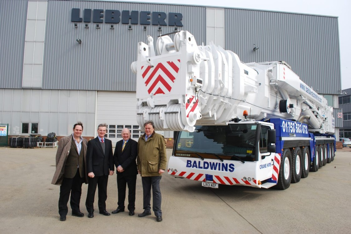 Baldwin's management with new crane financed by Siemens