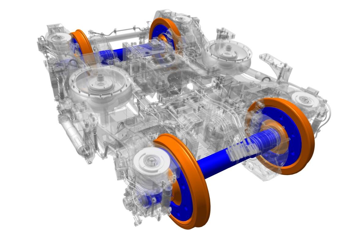 Wheelset  (Wheels and axlebox bearings)