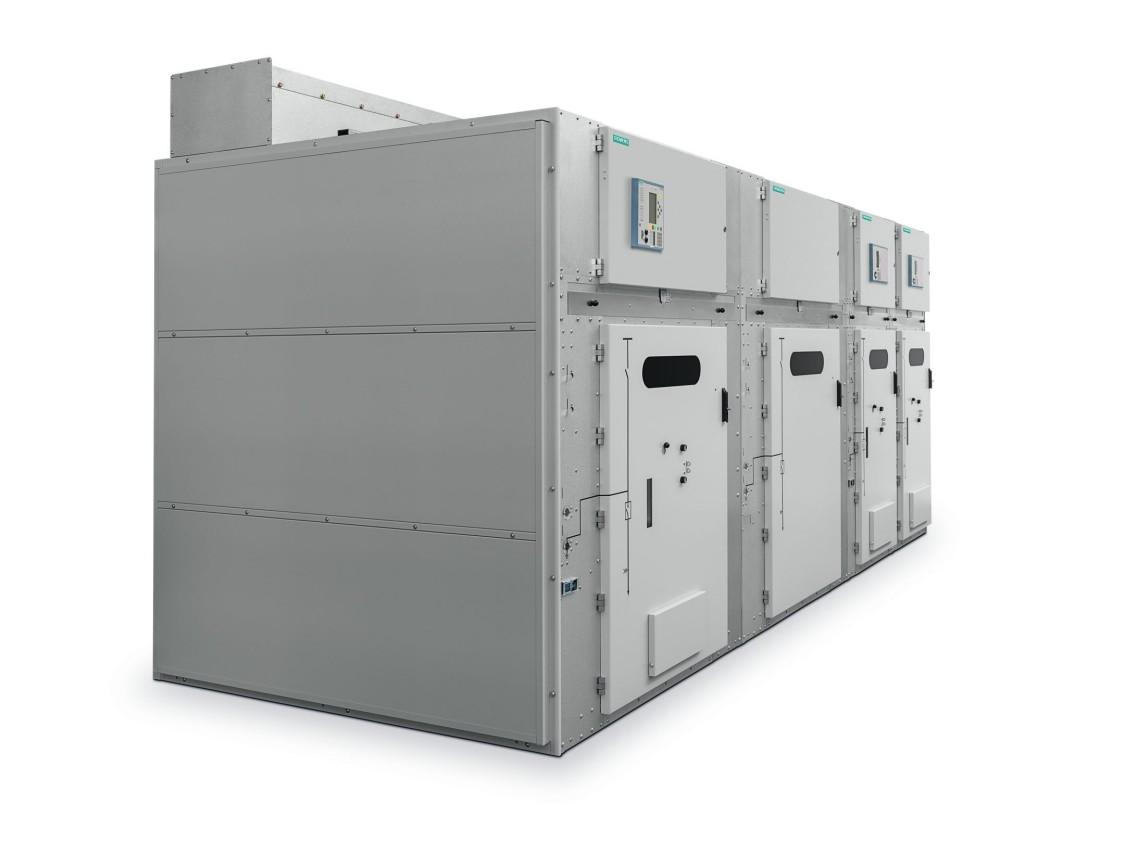 Aparelhagem isolada a gás Sitras ASG25 da Siemens para fonte de alimentação de tração CA.