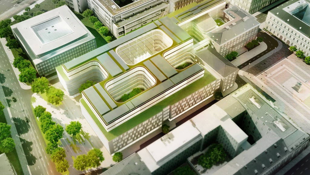 Decision of the architecture competition for reconstruction of Siemens corporate headquarters
