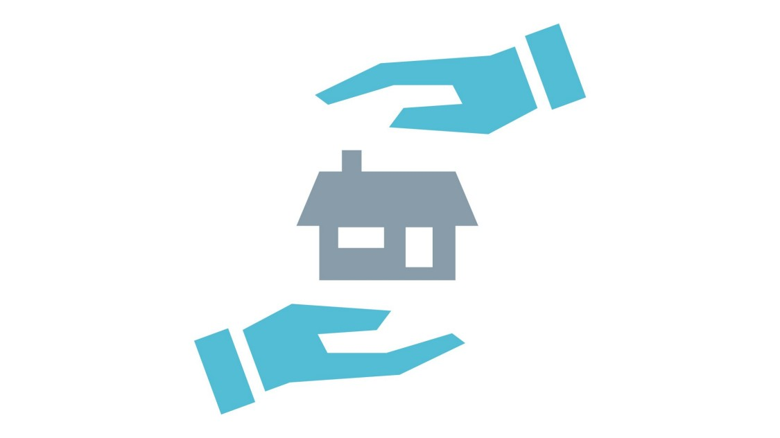 house with two hands icon