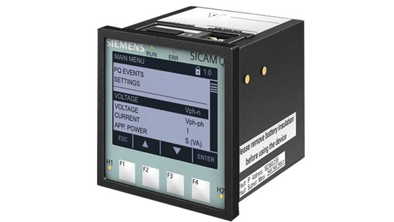 Power quality recorder SICAM Q100 front view