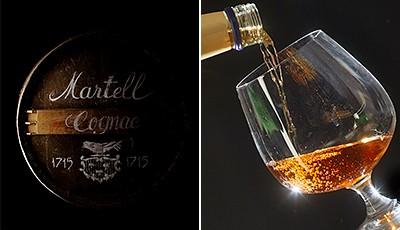 Das Logo sowie der Name Martell stehen für 300 Jahre Erfahrung in der Herstellung von qualitativ sehr hochwertigem Cognac.