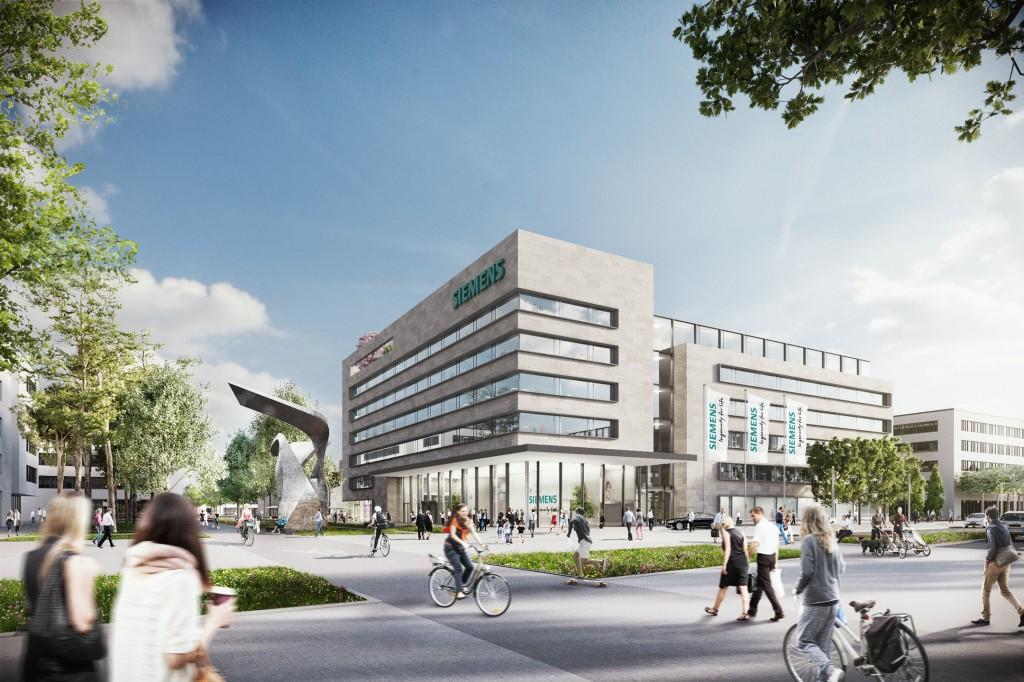 Neues Empfangsgebaeude Siemens Campus Erlangen