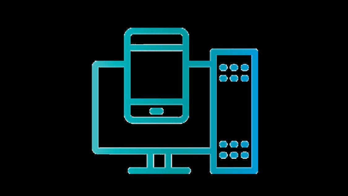 illustration of desktop computer and mobile phone