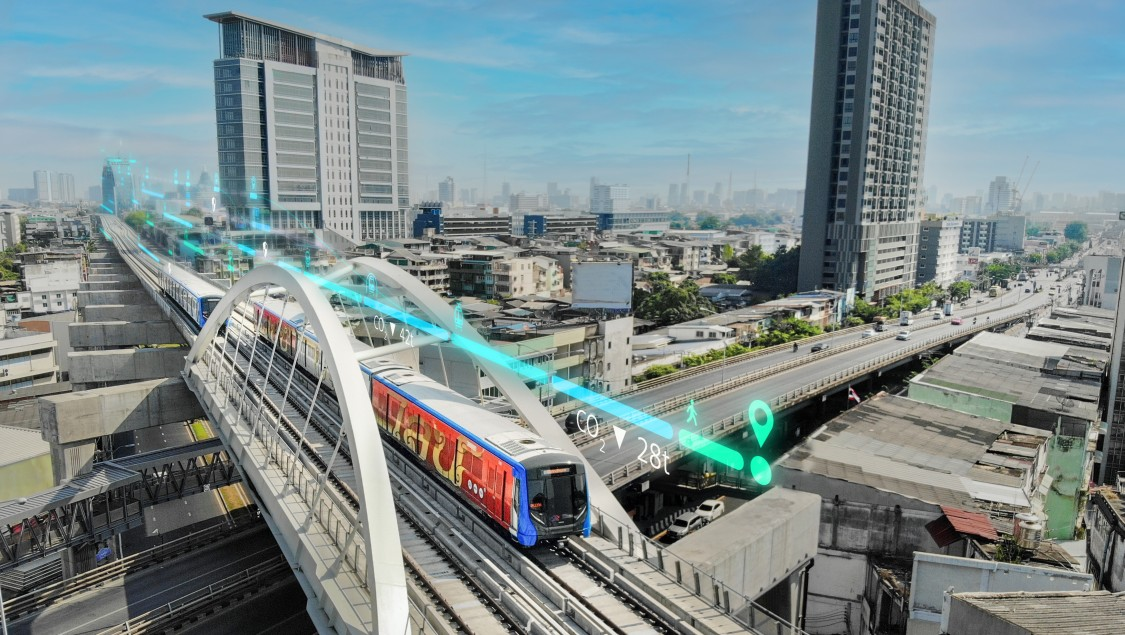 Bahnservices für BEM (MRT Blue Line Bangkok), Bangkok, Thailand