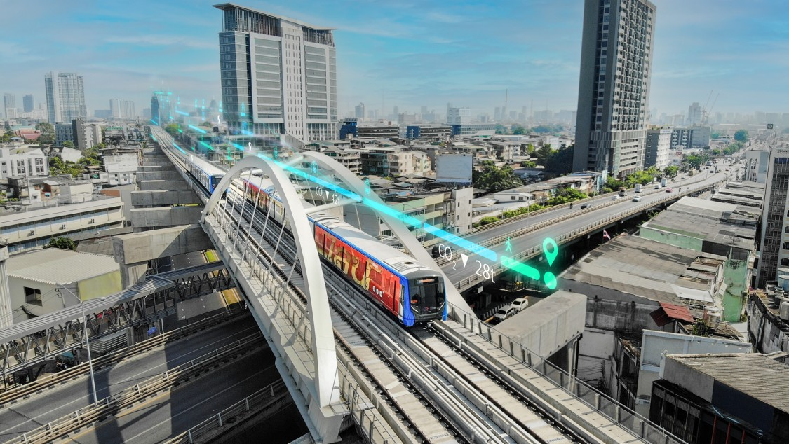 Picture Rail Services for Bangkok's Blue Line Metro