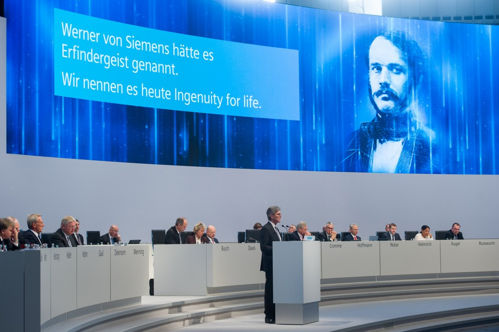 Annual Shareholders' Meeting of Siemens AG at the OlympiahalleMunich, Germany