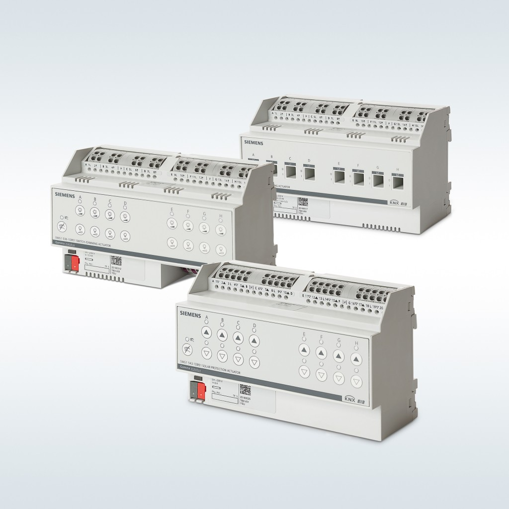 New actuators for lighting and sun protection from Siemens