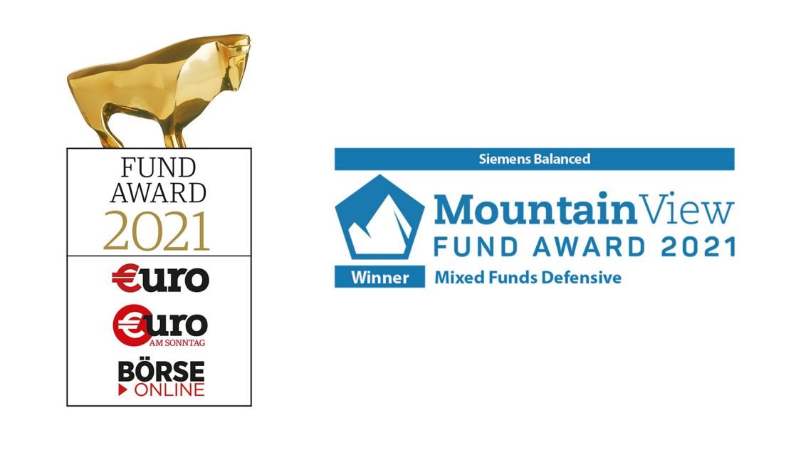 €uro-FundAwards 2021 für den Siemens Balanced   Mountain View Fund Award 2021