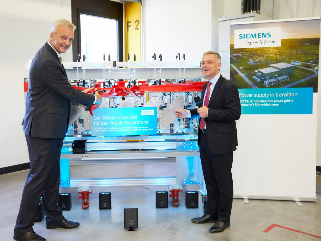 Handover of the 100th static synchronous compensator