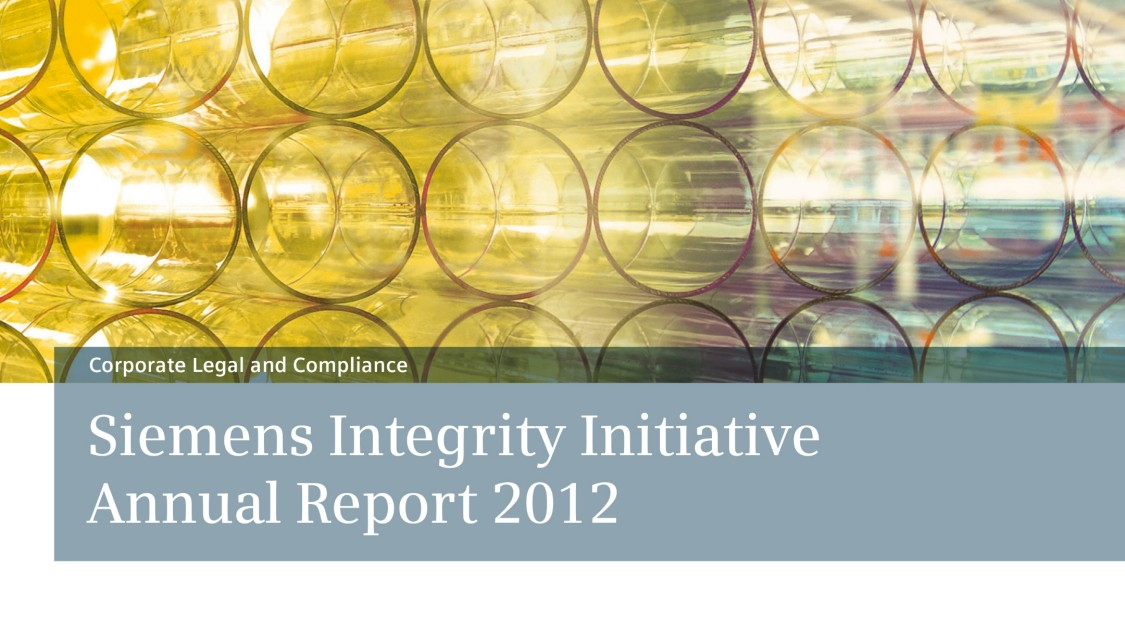 Siemens Integrity Report 2012