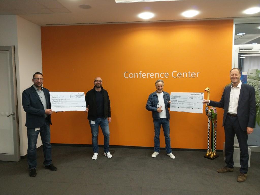 Spendenübergabe: Siemens Bienen Mannheim