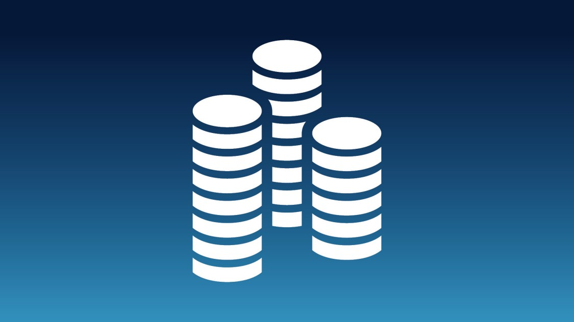 Icon showing a stack of coins