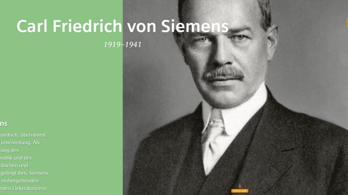 Carl Friedrich von Siemens Scrollytelling