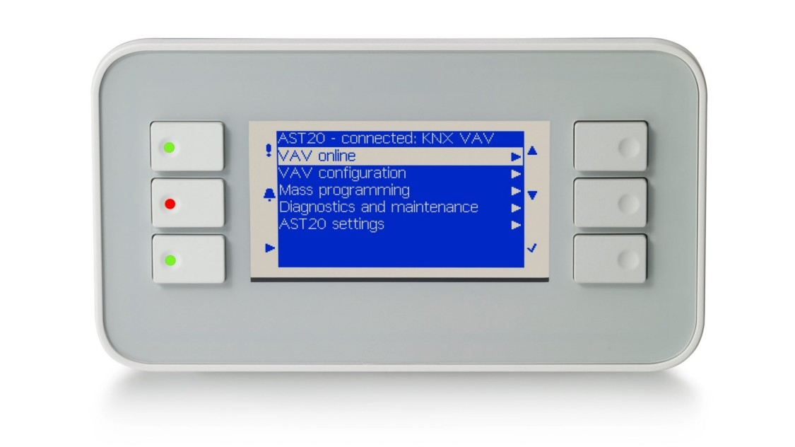 Operating unit for VAV controllers