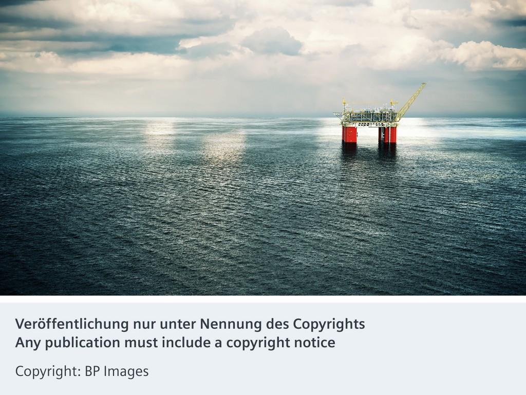 Das Bild zeigt die schwimmende Ölplattform Mad Dog 2 von BP
