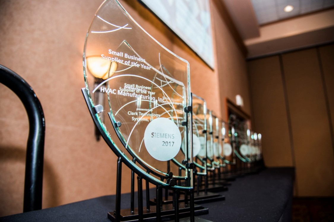 2017 Small Business Supplier Awards Luncheon awards trophies