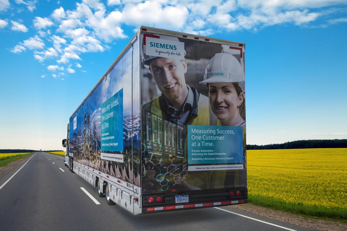 USA - Siemens Mobile Showcase with process instrumentation, process automation and process analytics