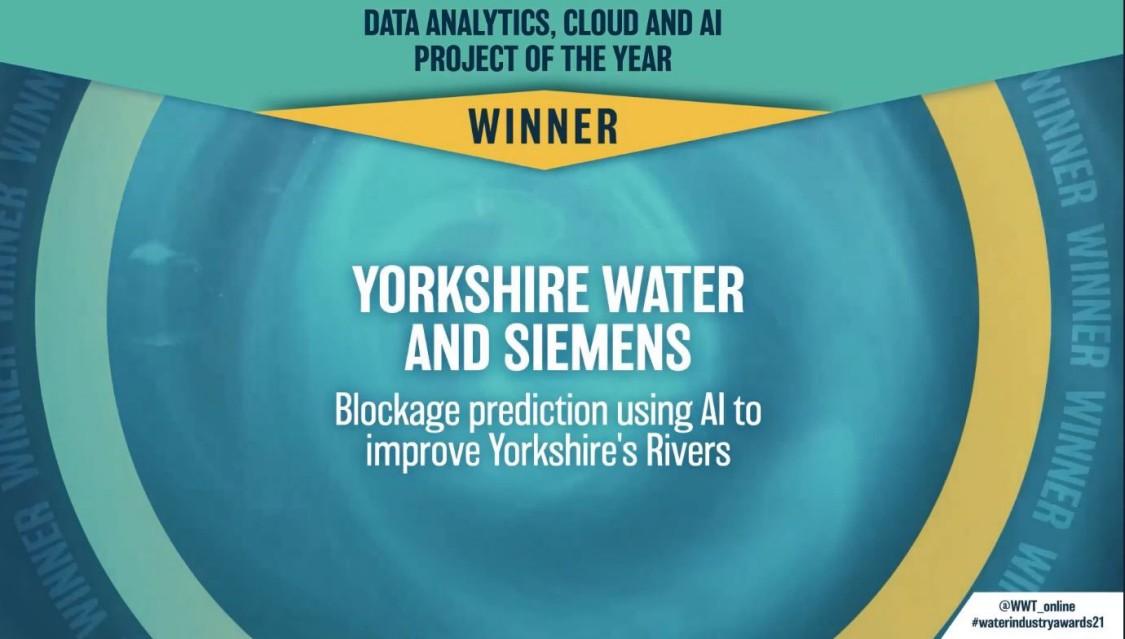 Water Industry Awards 2021 Winner