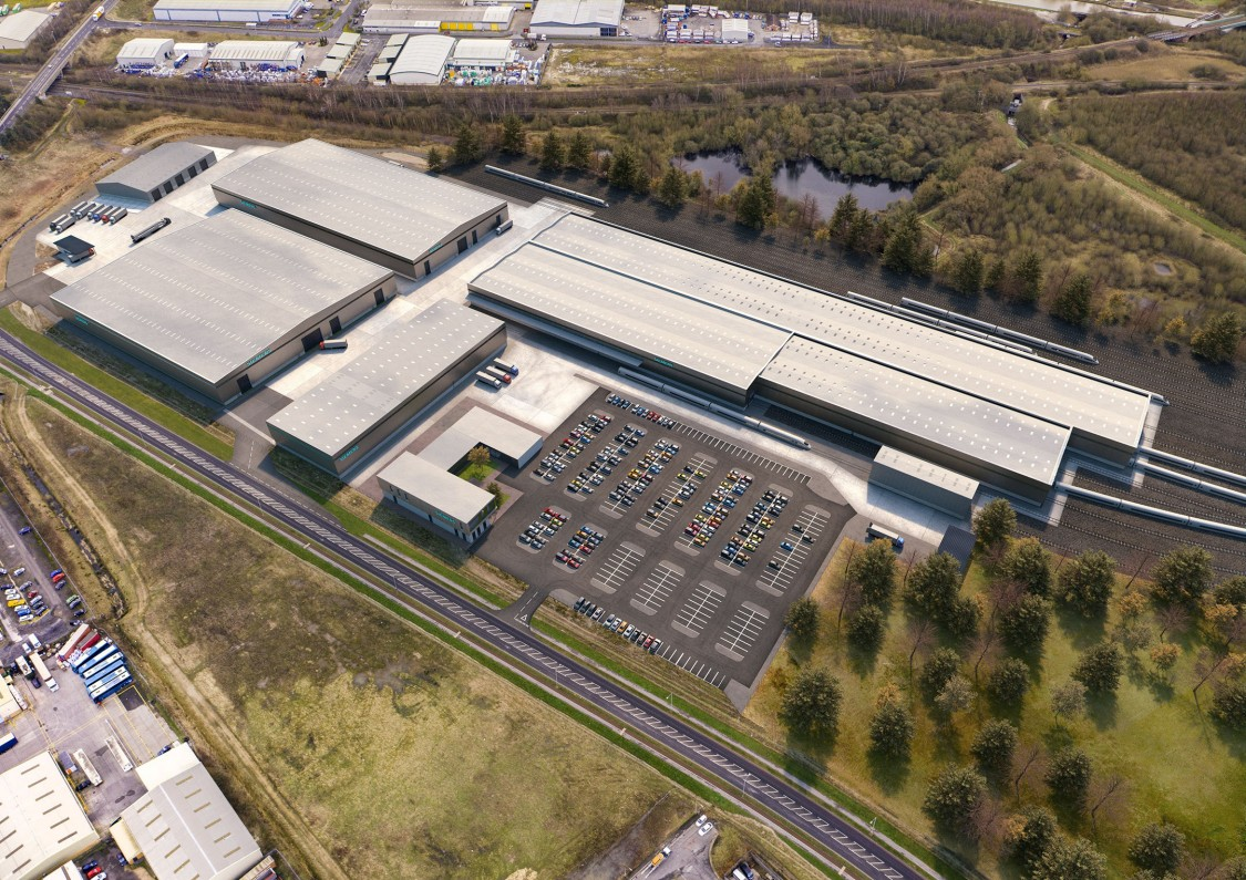 Siemens Mobility Goole factory CGI image