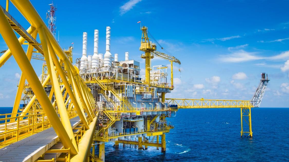 Öl- und Gasverarbeitungsplattform