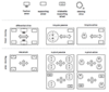 Przykład różnych typów kinematyk wspieranych przez biblioteki Carrier Control