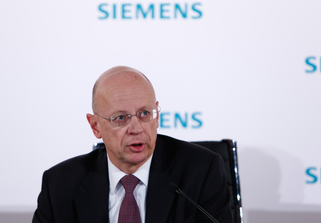 Dr. Ralf P. Thomas, member of the Managing Board and Chief Financial Officer of Siemens AG, at the press conference held to announce the figures for the first quarter of fiscal 2017.