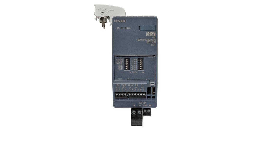 UPS8600 uninterruptible power supply for buffering during a power failure 6EP4197-8AB00-0XY0