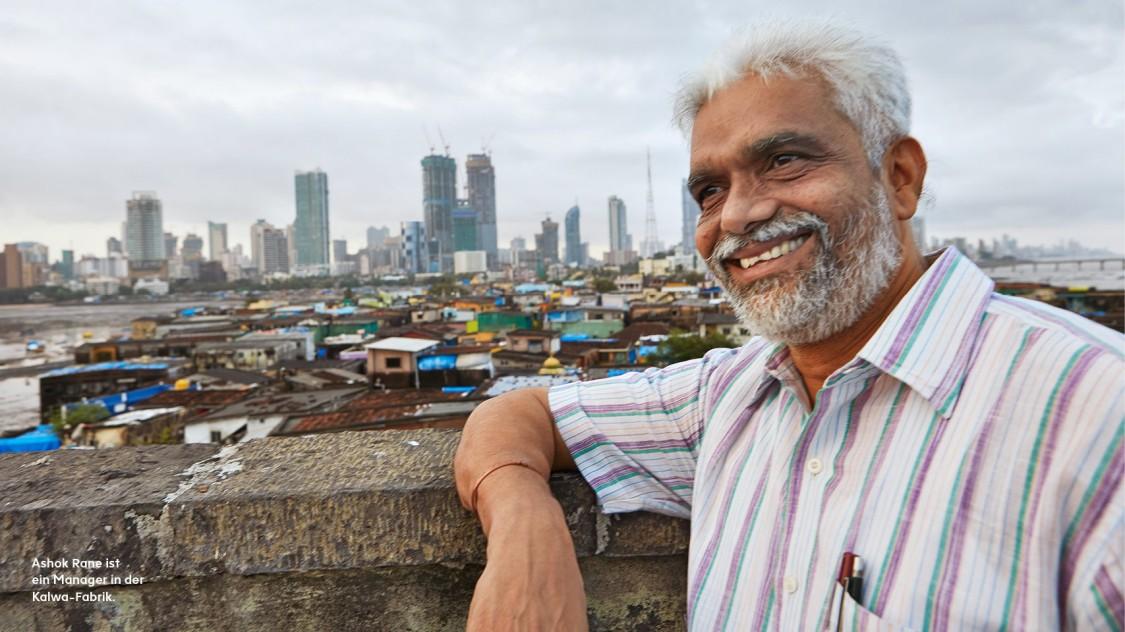 Ashok Rane ist ein Manager in der Kalwa-Fabrik