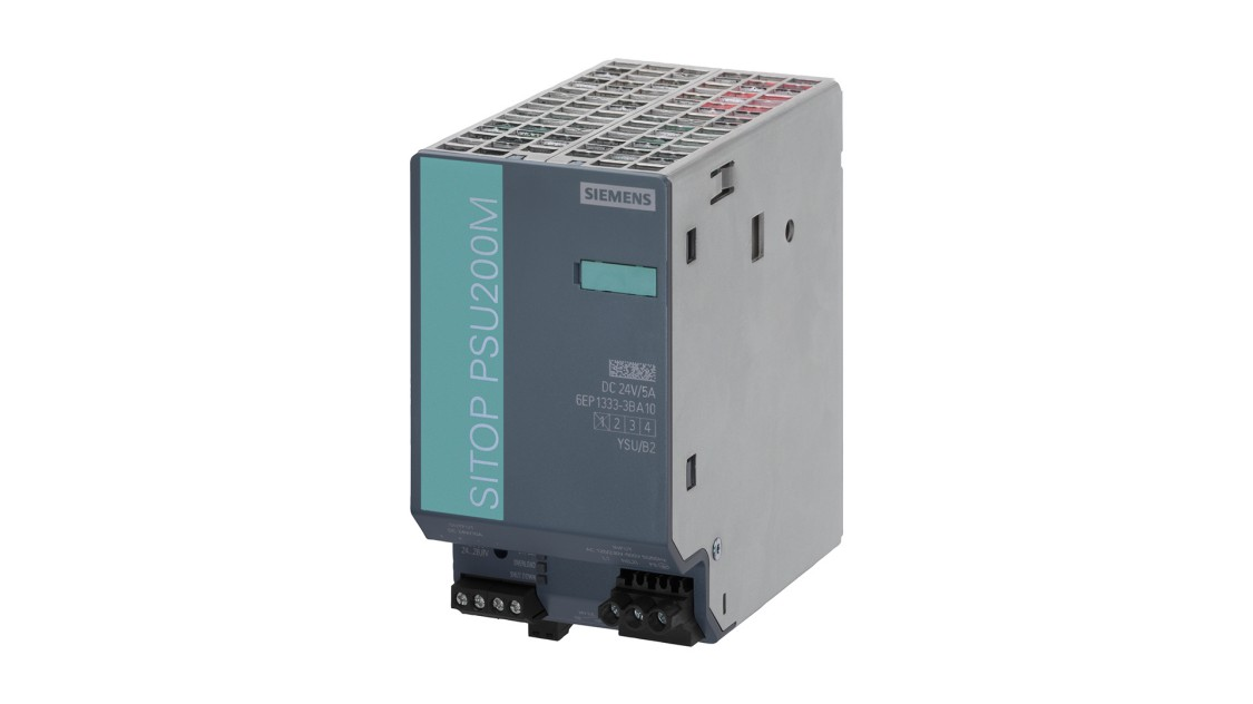 Product image SITOP PSU200M, 1-phase and 2-phase, DC 24 V/5 A