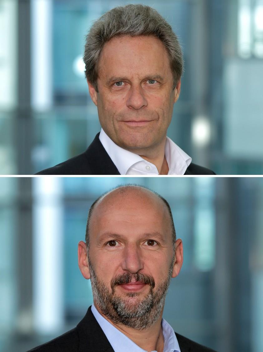 Dipl.-Ing. Manfred Völker (Sprecher der Geschäftsführung) und Harald Rest