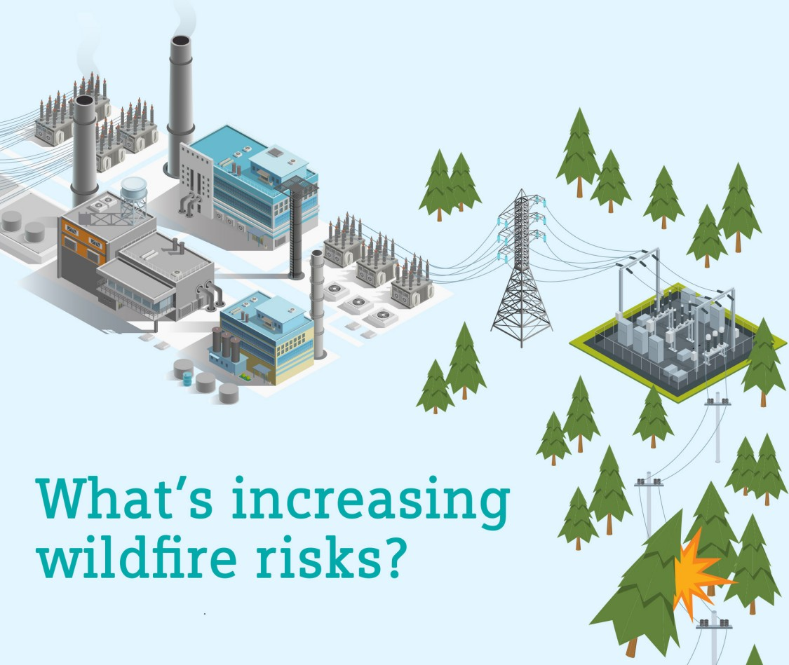 """""""What's increasing wildfire risks?"""" infographic"""