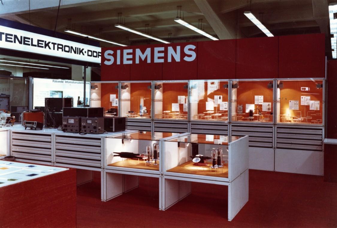 Siemens booth on Leipzig Fair, 1973