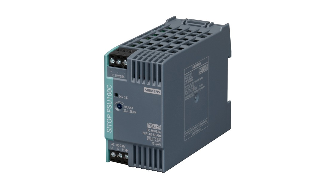 Product image SITOP PSU100C, 1-phase, DC 24 V/2.5 A
