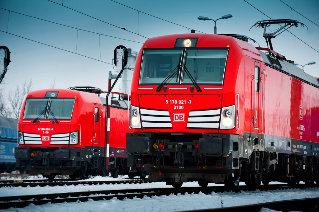 Siemens networks locomotives of Deutsche Bahn