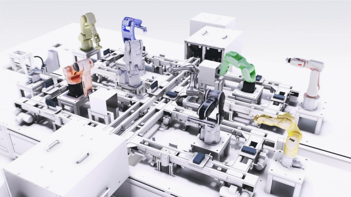 Screenshot of Model Application for SIMATIC Robot Integrator
