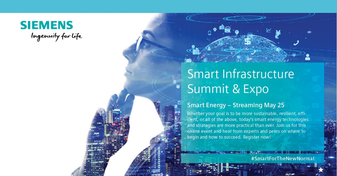 Siemens Smart Infrastructure Summit & Expo - Smart Energy - Live Streaming May 25, 2022