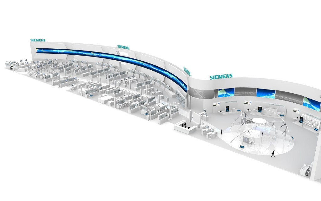 Infografic: Siemens booth at Hannover Messe 2015
