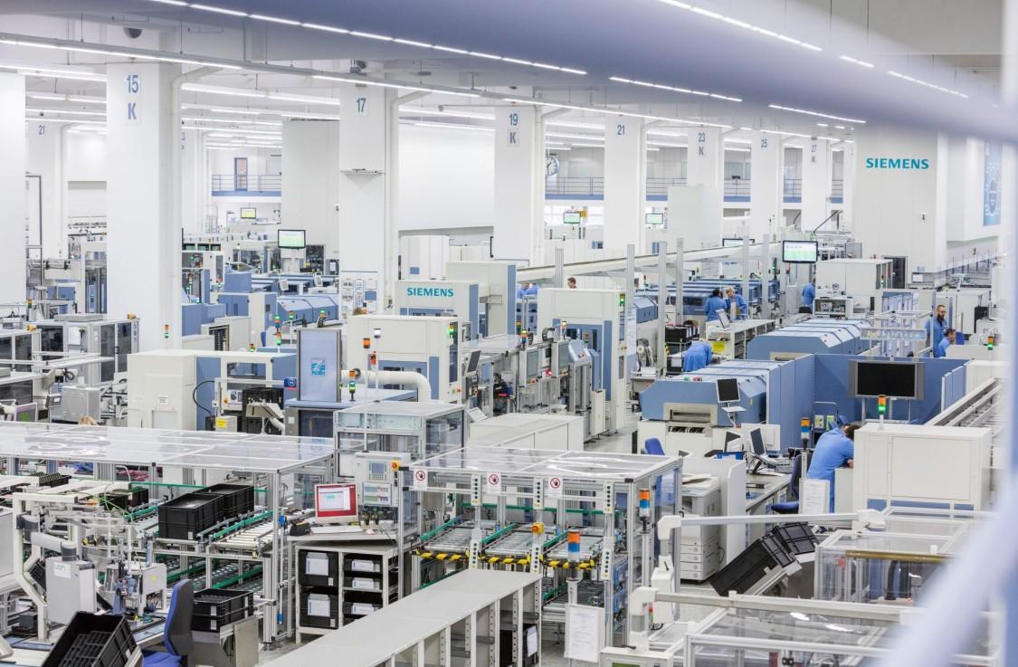 Siemens electronics plant in Amberg, Germany