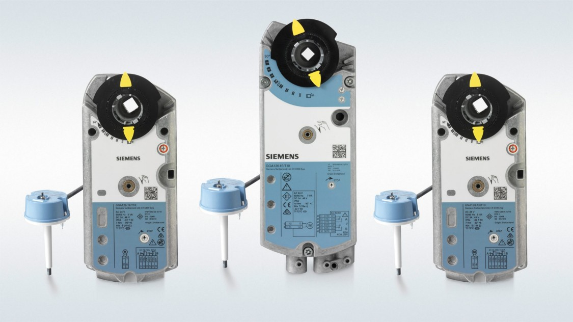 Damper actuator family for fire and smoke protection dampers