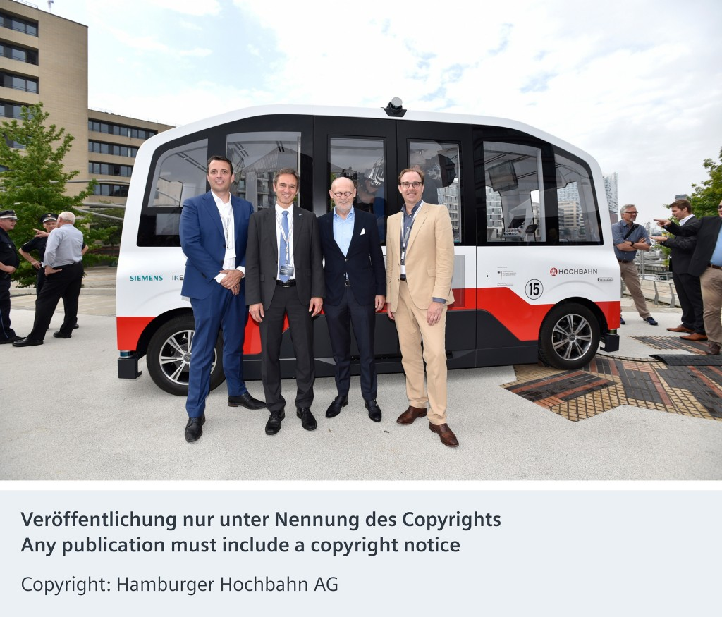 First autonomous shuttle bus