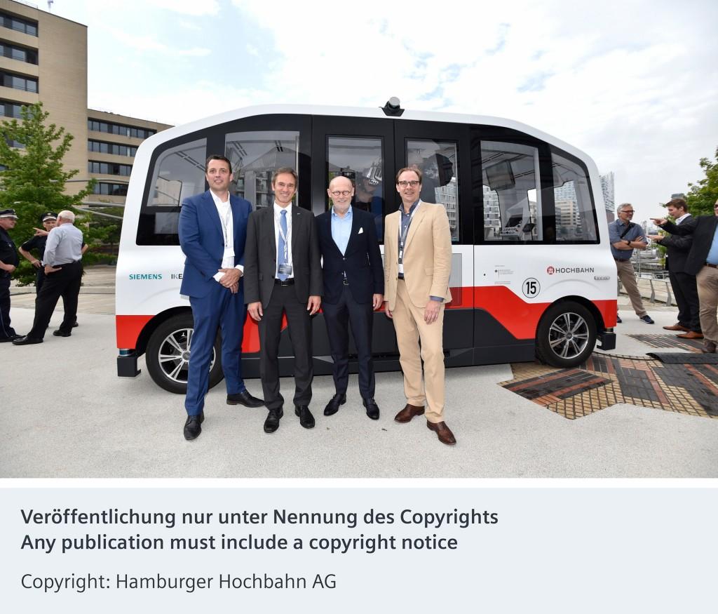 First autonomous shuttle bus